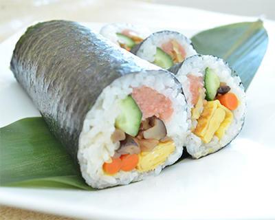 カットぶなしめじの巻き寿司